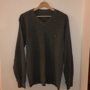 Tommy Hilfiger Waffle Fabric V-Neck Sweater